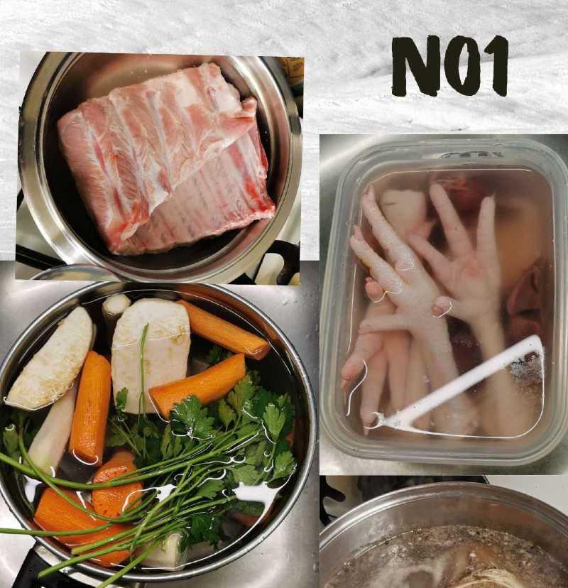 húsleves előkészítése